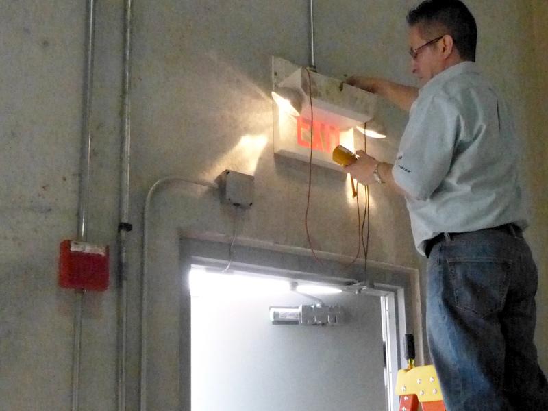 emergency exit light inspection and installation  chicago  aurora  naperville  schaumburg  il