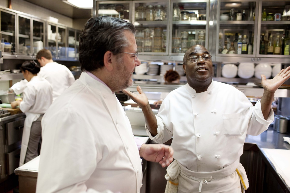 Chef Charlie Trotter with Chef Reginald Watkins