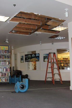Sprinkler ceiling damage