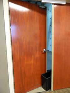 Fire Door proped open