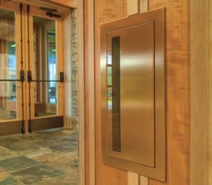 Fire Extinguisher Cabinet Cavalier Bronze Flat Trim & Rolled Edge