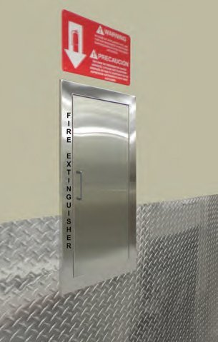 Fire Extinguisher Cabinet Cavalier Stainless Flat Trim
