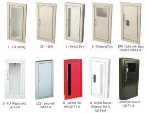 Fire Extinguisher Cabinet Door Styles