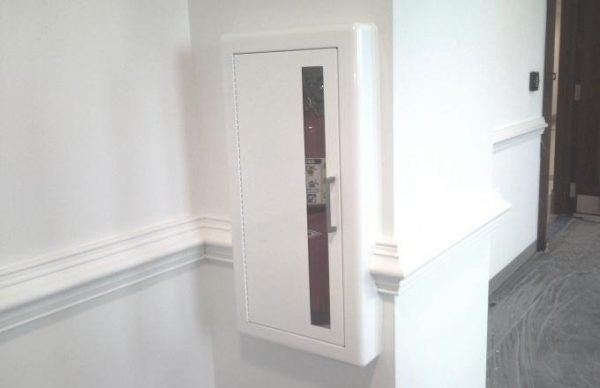 Fire Extinguisher Cabinet in Historic Building White