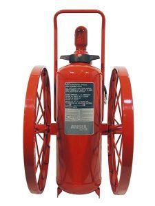 RED LINE Wheeled Fire Extinguisher CR-LR-I-K-150-C