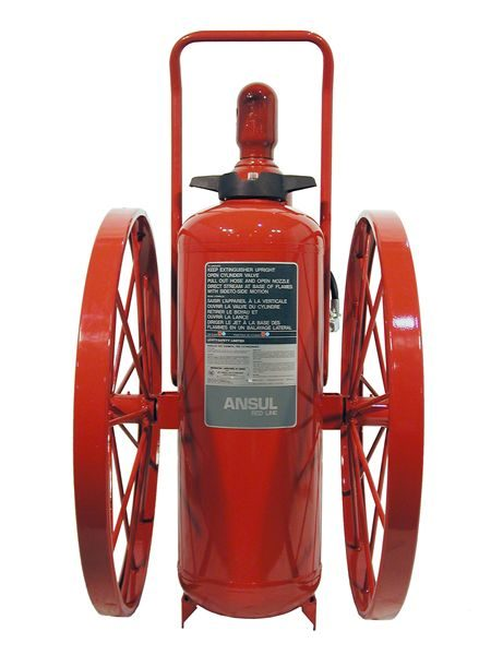 RED LINE Wheeled Fire Extinguisher CR-LR-I-K-150-C