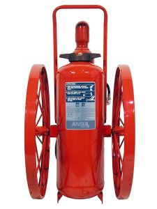 RED LINE Wheeled Fire Extinguisher CR-I-K-150-C