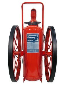RED LINE Wheeled Fire Extinguisher CR-RT-I-K-150-C