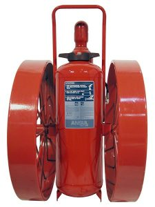 RED LINE Wheeled Fire Extinguisher CR-WW-I-K-150-C