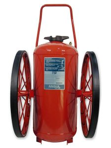 RED LINE Wheeled Fire Extinguisher CR-RT-I-K-350-D
