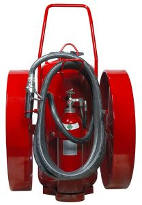 RED LINE Wheeled Fire Extinguisher Back CR-LT-I-K-350-D-ULC