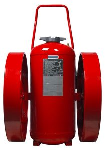 RED LINE Wheeled Fire Extinguisher Front CR-LT-I-K-350-D-ULC