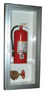 Fire Department Valve Cabinet with Shelf for Extinguisher