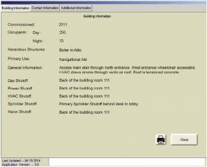 FirstVision Building Information Window