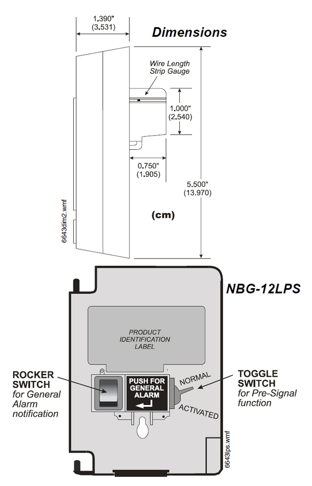 NBG 12 Dimensions Fire Alarm Pull Station notifier conventional manual fire alarm pull stations fox valley fire alarm pull station wiring diagram at soozxer.org