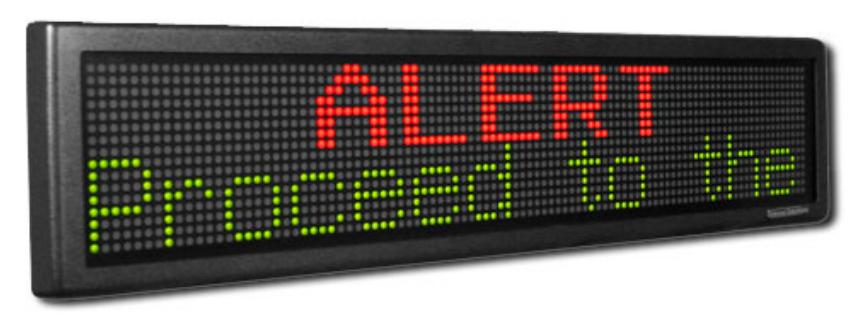 OAX2-24V LED Emergency Message Sign