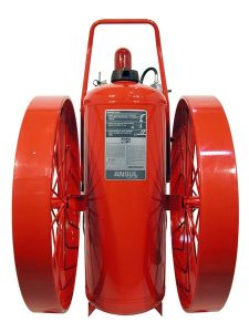 RED LINE Wheeled Fire Extinguisher CR-RT-LR-I-K-350-C