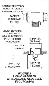 Fire Sprinkler Head Diagram Std Recessed Escutcheon