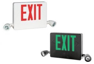 HCX Series Side Mount Combination LED Exit Signs