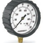 Ashcroft Fire Protection Sprinkler Gauge with rubber boot