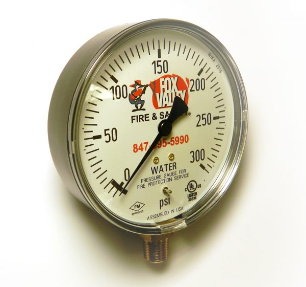 Fire Sprinkler Gauge 300psi FPPI