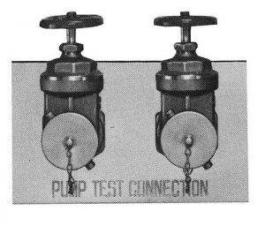 Two-Way Flush Fire Pump Test Connections 5862
