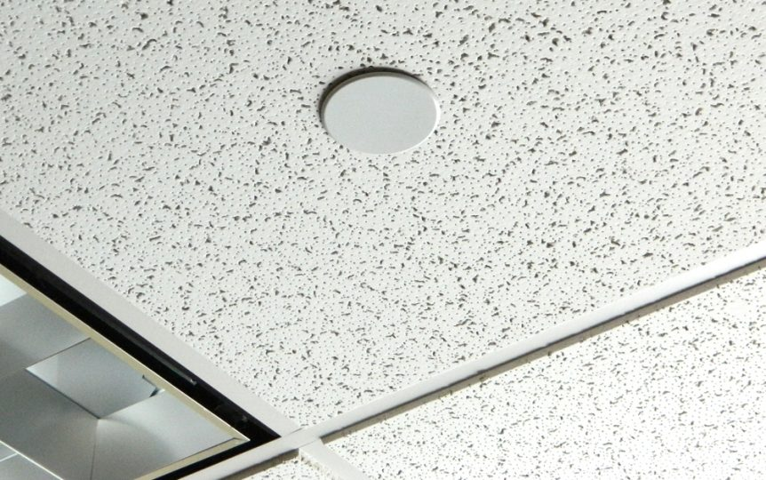 Fire Sprinkler Cover Plate in Ceiling