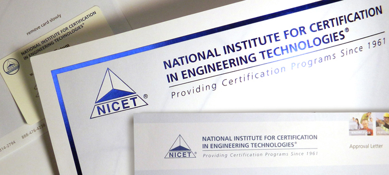 NICET Certification NICET Card