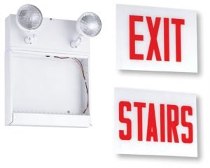 Chicago LED Steel Combo Exit or Stairs CLSC