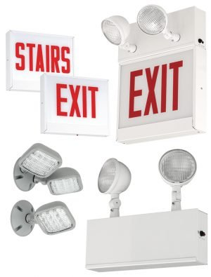 Chicago LED Steel Exit Emergency Lighting