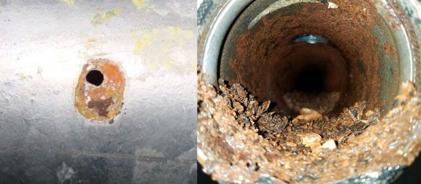 Pinhole Leak & Corrosion in Fire Sprinkler Pipe