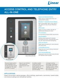 Linear e3 Telephone Entry Access Control PDF
