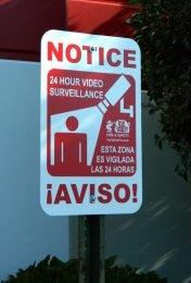 24 Hour Video Surveillance Sign