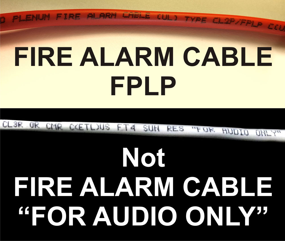 Fire Alarm Cable FPLP Wire