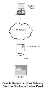 NOTIFIER Modbus Gateway Direct to Fire Alarm Control Panel