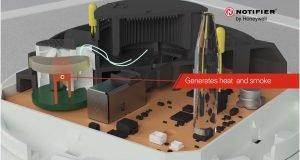 NOTIFIER Self-Test Detector Generates Heat and Smoke