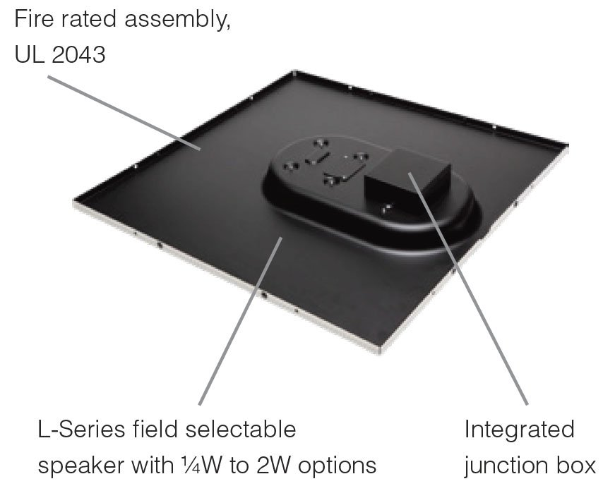 System Sensor L-Series Drop-In Ceiling Speaker Strobes Back View Features