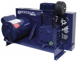 General Air Products Air Compressors Lubricated Base Mounted
