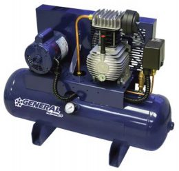 General Air Products Air Compressors Lubricated Tank Mounted